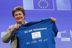 Kristalina Georgieva, Member of the EC in charge of International Cooperation, Humanitarian Aid and Crisis Response gives a news conference on the EC proposal for a Regulation on the setting up of the European Voluntary Corps in Humanitarian Aid Ð a new body envisaged by the Treaty of Lisbon © European Union, 2014